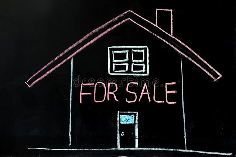 Download House for sale stock image. Image of agent, sign, chalkboard - 22786671