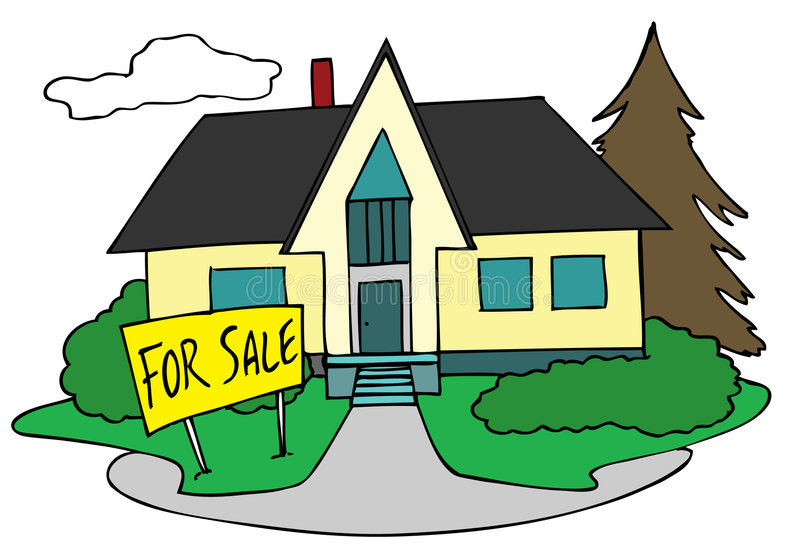 House for sale royalty free illustration
