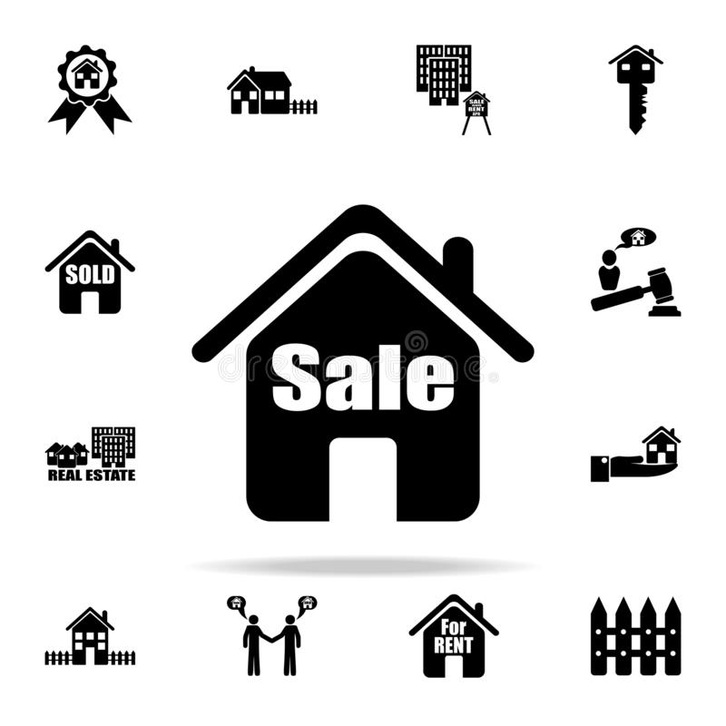 house for sale icon. Real estate icons universal set for web and mobile vector illustration