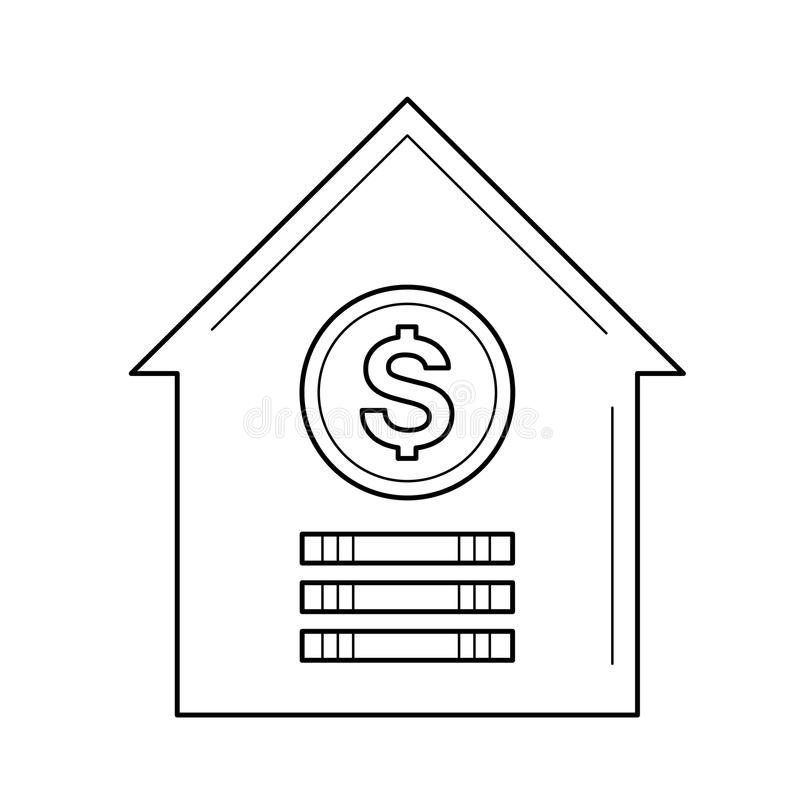 House for sale line icon. royalty free illustration
