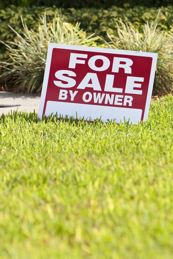 House For Sale By Owner Sign stock images