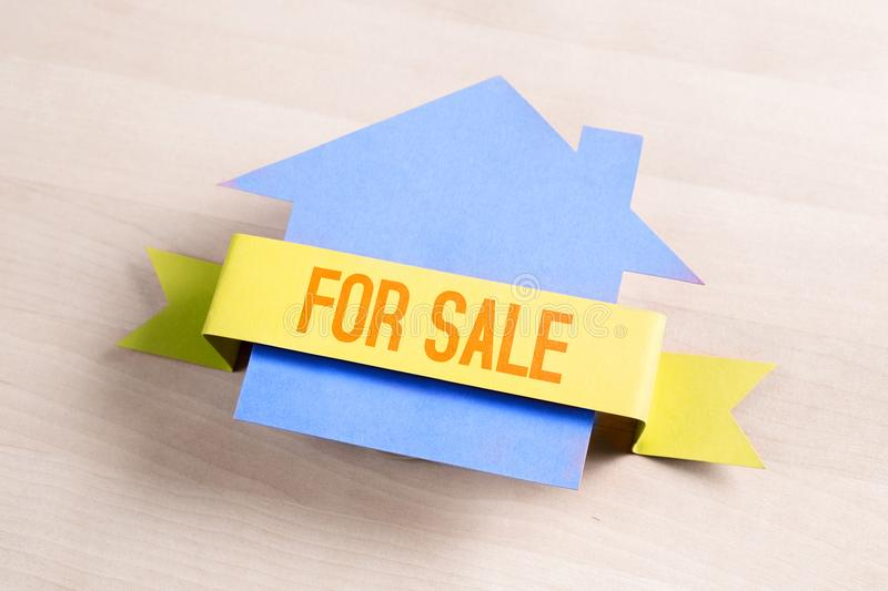 House for sale. Real estate business concept. stock photo