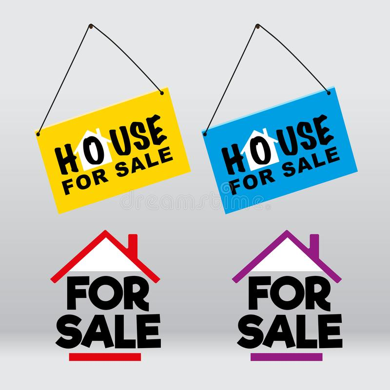 House for sale signage royalty free stock photography
