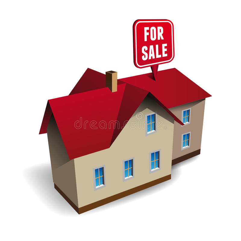 House for sale vector vector illustration