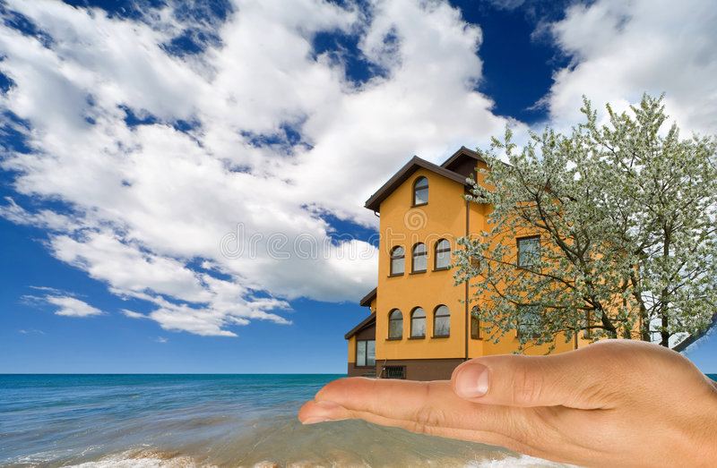 Download House on sand. stock image. Image of beach, business, architecture - 9070747