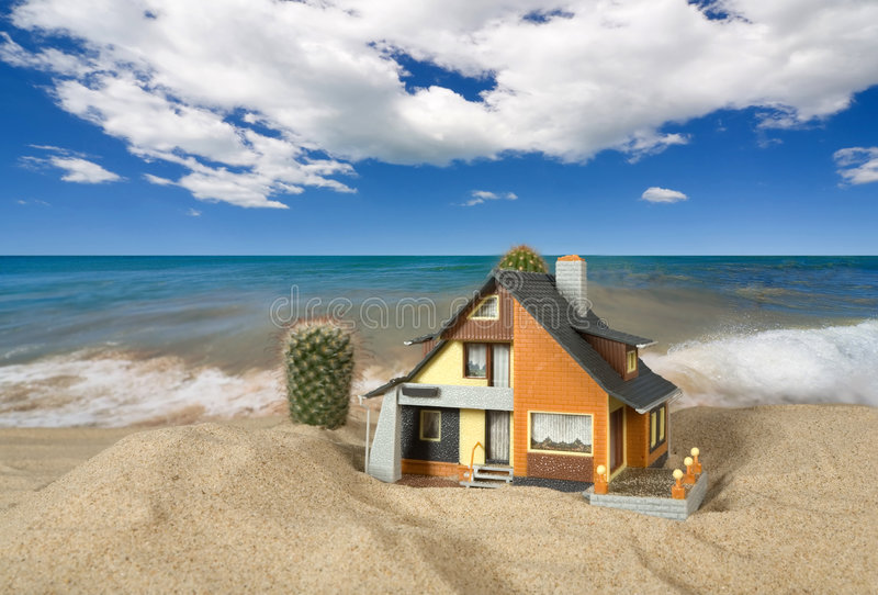 Download House On Sand. Royalty Free Stock Photography - Image: 9071317