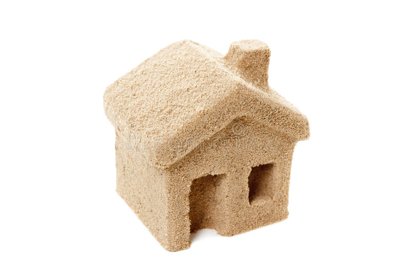 House of Sand. Icon royalty free stock images