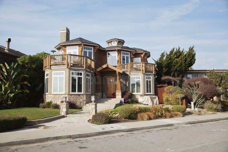 House in Santa Cruz Ca stock photo