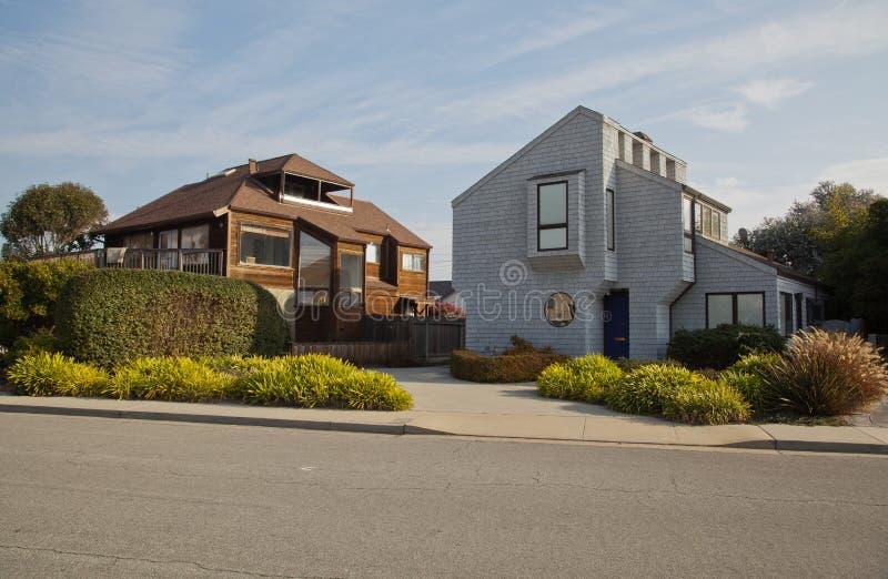 House in Santa Cruz Ca stock image