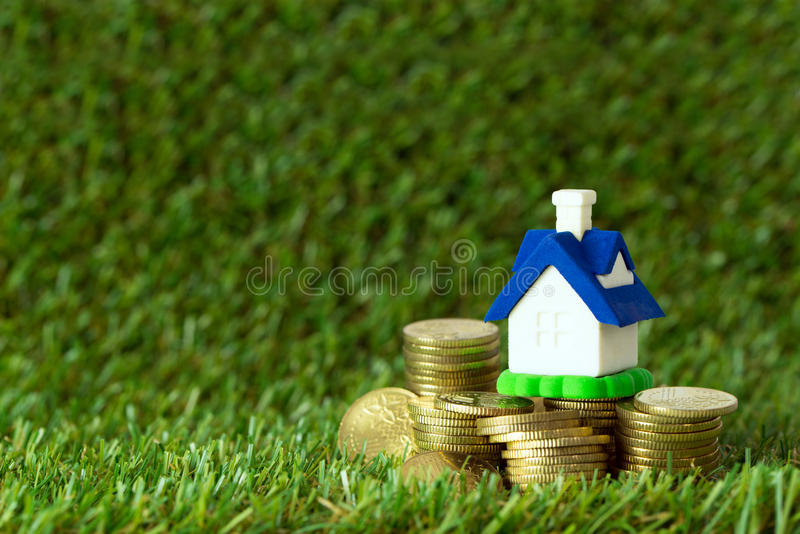 House savings plan royalty free stock photo