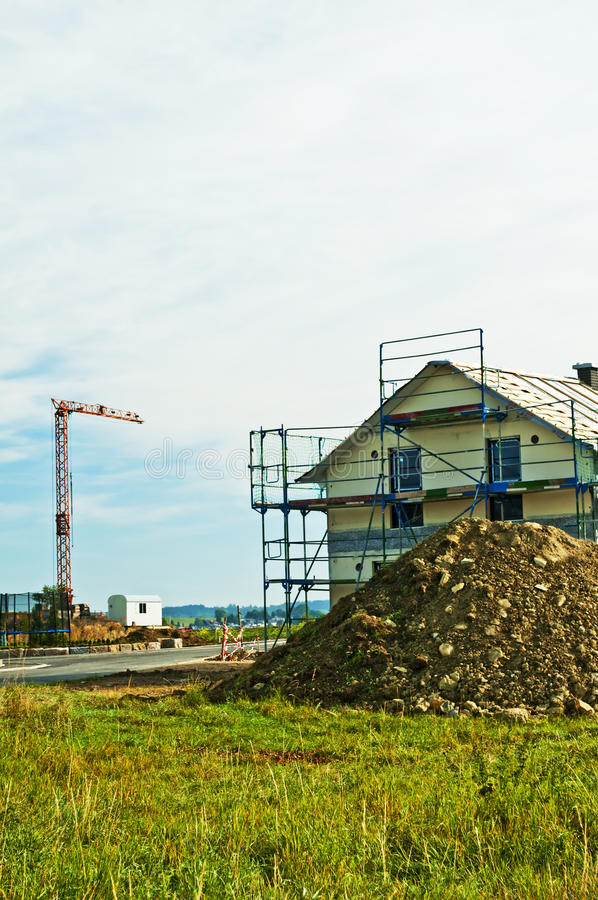 Download House With Scaffold Royalty Free Stock Photos - Image: 26978928
