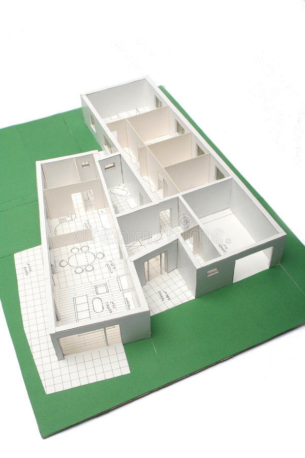 House scale-model stock illustration