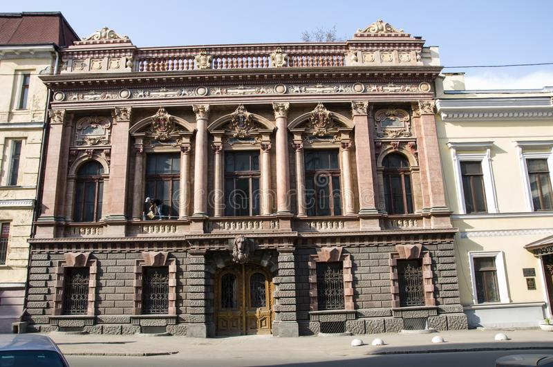 House of Scientists. Ukraine. Odessa. Classical architecture of the facade of the building. royalty free stock photo