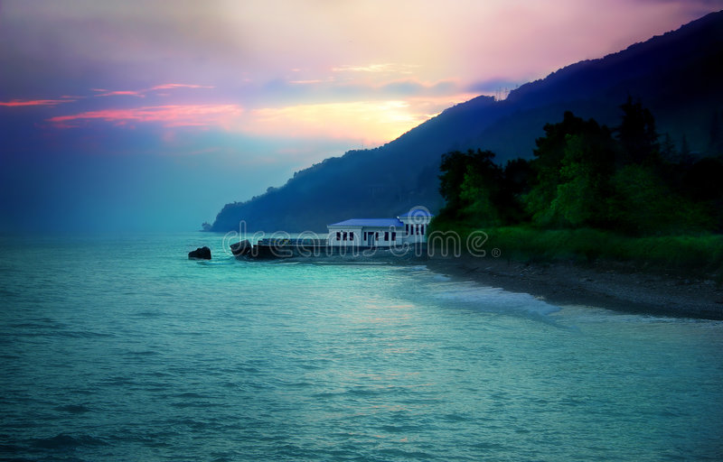House on the sea stock photography