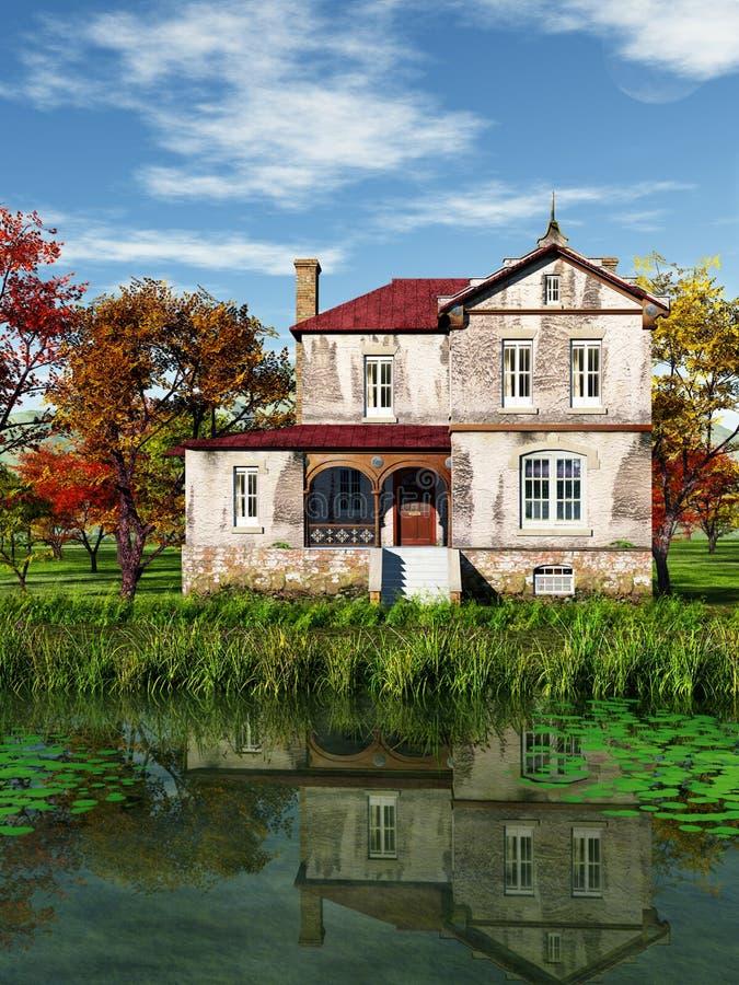 Download House at Sea stock illustration. Image of landscape, nature - 30730804