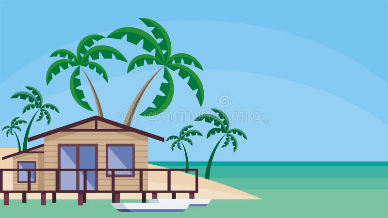 The house by the sea vector illustration