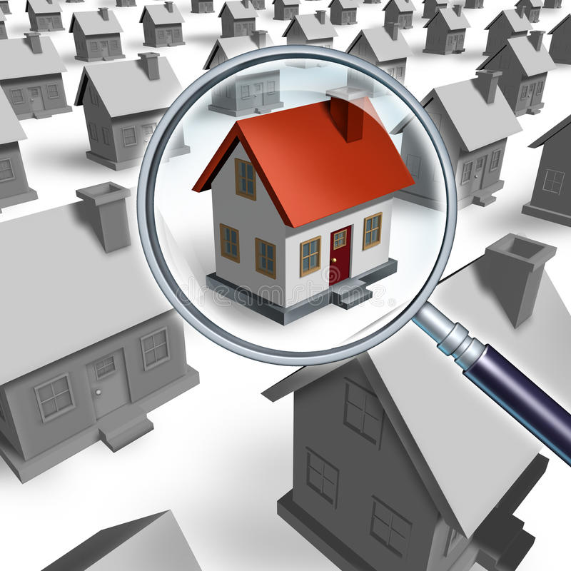 House Search stock illustration