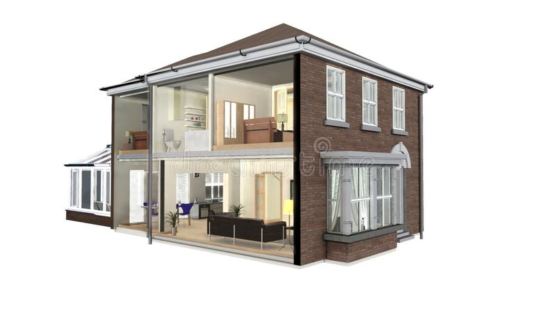 House Section Stock Photography