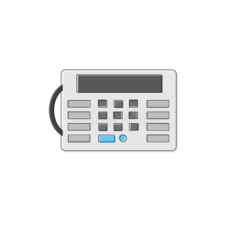 House Security Alarm Protection Control Panel Thin Line royalty free illustration