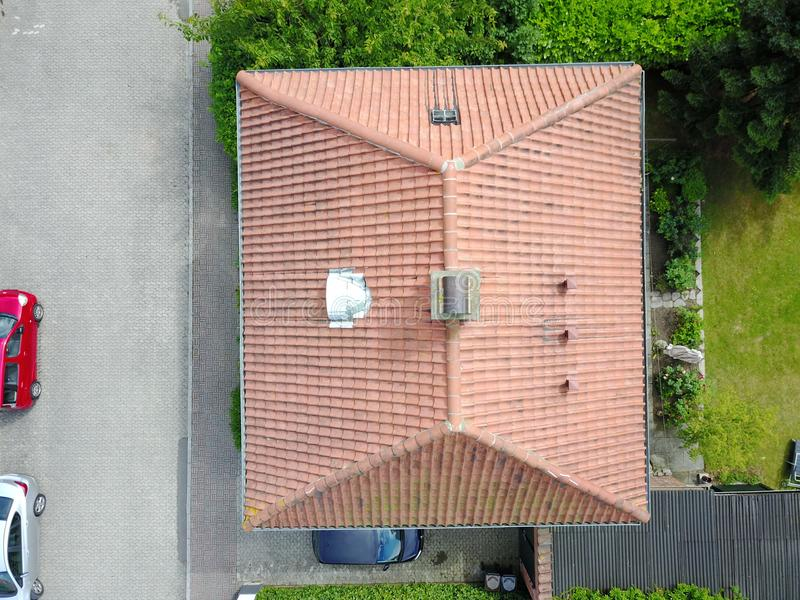 house seen from the air stock images