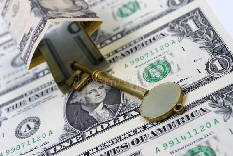 House shape money royalty free stock photo