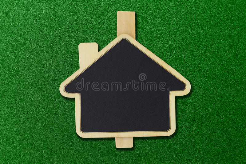 House shape sign stock image