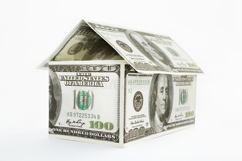 Download House Shaped Dollars Royalty Free Stock Photography - Image: 22763477