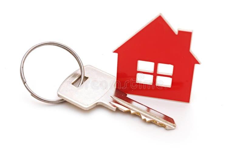 House shaped keychain stock photos