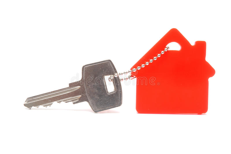 House shaped keychain royalty free stock image
