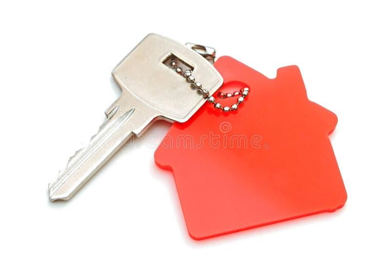House shaped keychain stock image