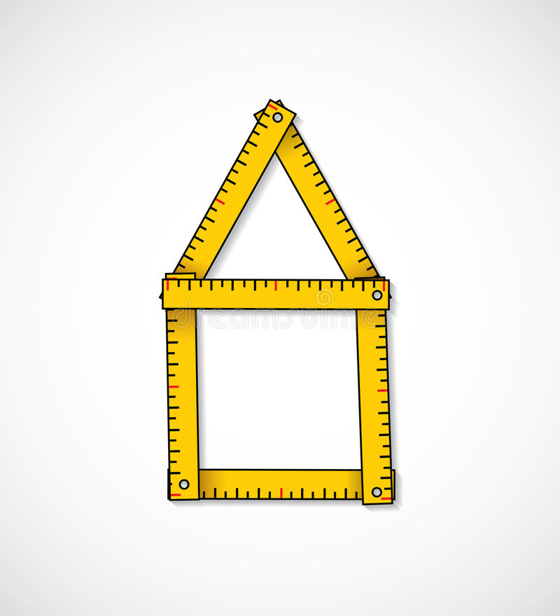 Download House Shaped Measuring Tape Stock Vector - Image: 30383424
