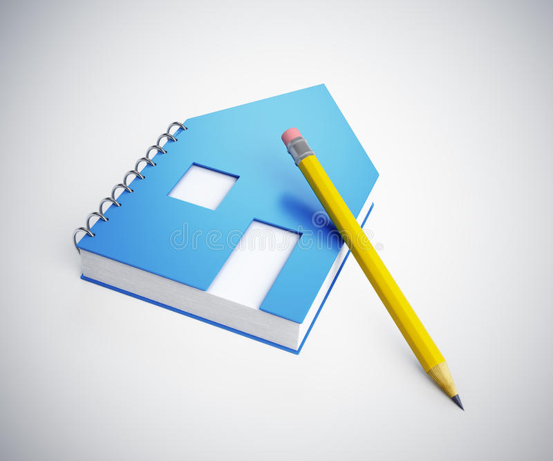 Download House shaped note pad stock illustration. Image of modern - 34242712