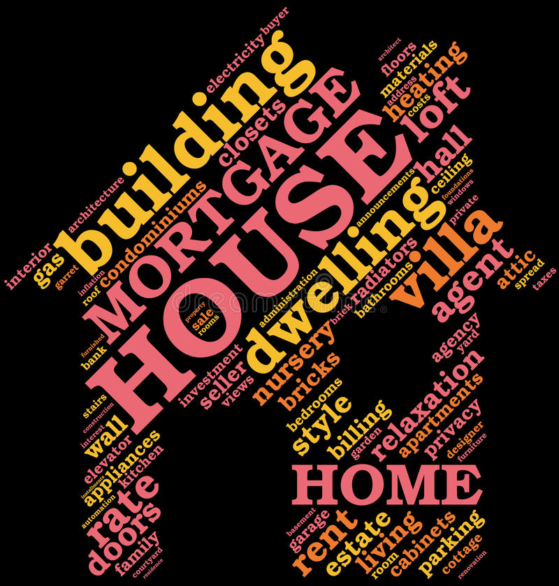 Download House - Shaped Tag Cloud , Home Symbol Stock Illustration - Image: 24539751