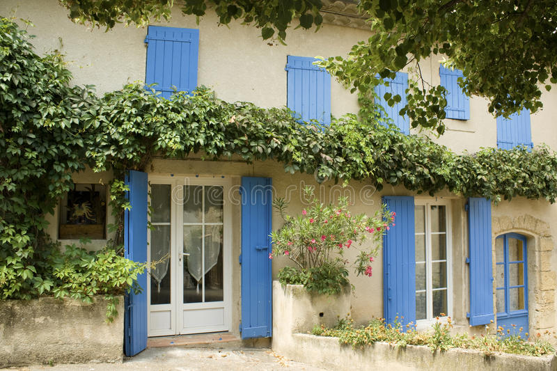 House with shutters Provence France stock photography