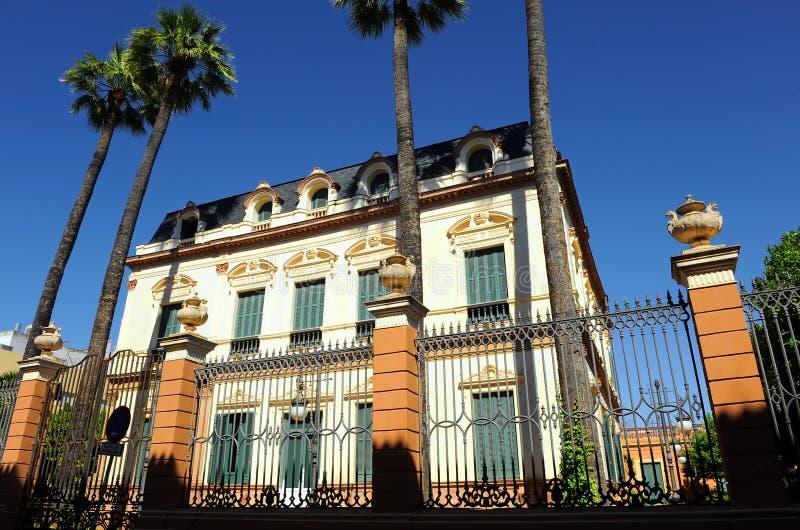 House of the Sirens, Casa de las Sirenas, Alameda de Hercules, Sevilla, Spain royalty free stock image