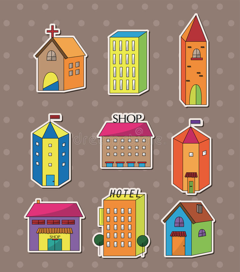 Download House sitkcers stock vector. Image of cute, apartment - 25583031