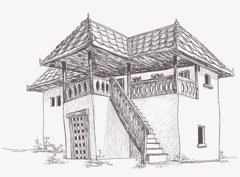 Download House Sketch Stock Vector Illustration Of Mansion Floor