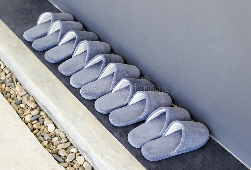House slippers stock photos
