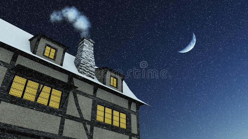 Rustic House And Chimney Stock Image Image Of Tall