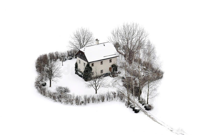 Download House in the snow stock photo. Image of alley, white - 13205810