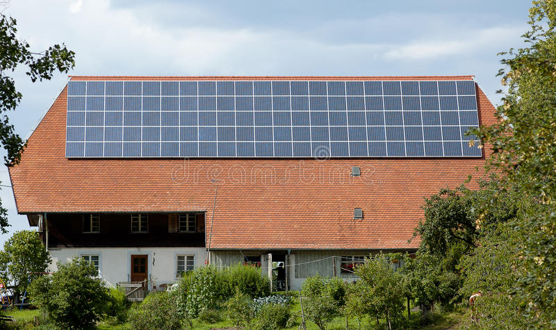 Download House with solar panel stock photo. Image of cheap, ecological - 23321870