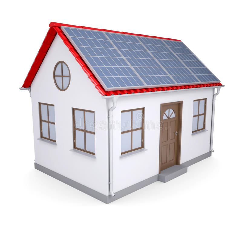 Download House with solar panels stock illustration. Illustration of house - 28282627