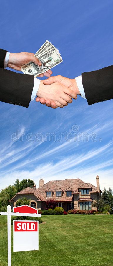 House sold royalty free stock images