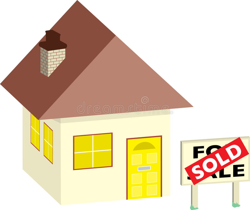 Download House sold stock vector. Image of illustration, vendor - 2553315