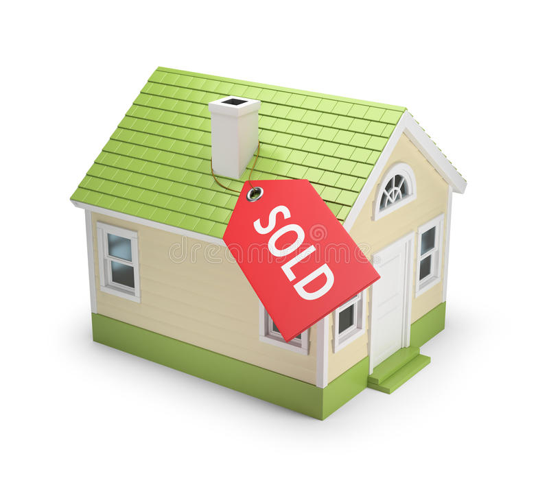 House sold vector illustration