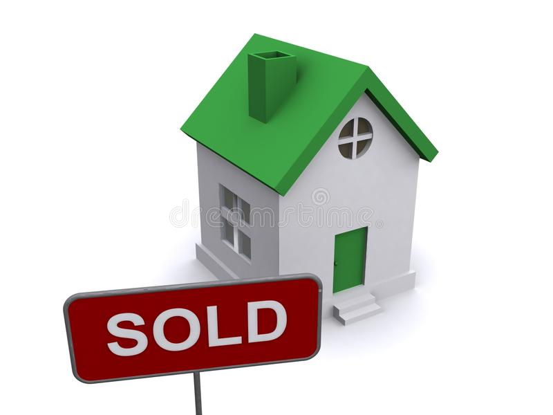 House and sold sign vector illustration