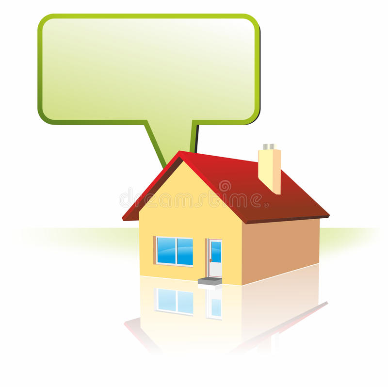 House and speech bubble vector illustration