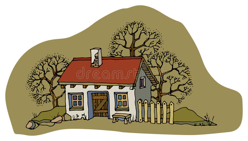 Download House in spring stock vector. Image of drawn, home, construction - 30395619