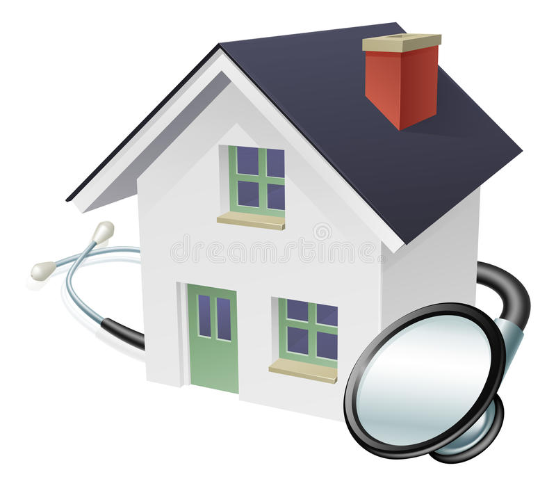 House and Stethoscope Concept royalty free illustration