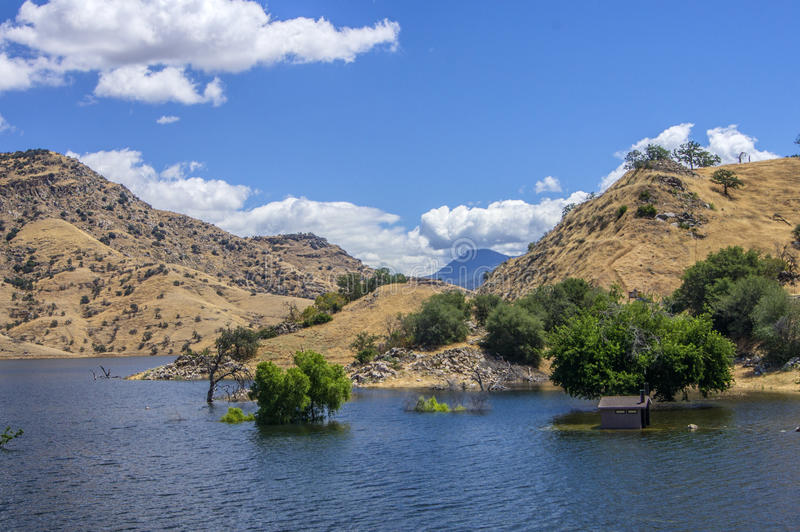 House after Storm, Kaweah Lake, Tulare California royalty free stock photos
